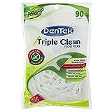 DenTek Extra Strong Triple Clean Floss Picks, Mouthwash Blast 90 ea (Pack of 8) For Sale