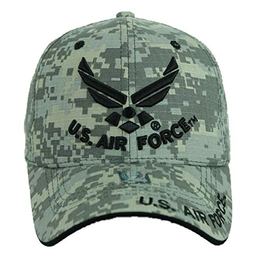 (90210 Wholesale USA AIR Force Baseball Cap US Air Force USAF Veteran Retired Hats CAMO Hat Caps (ACM-U.S. Air Force))
