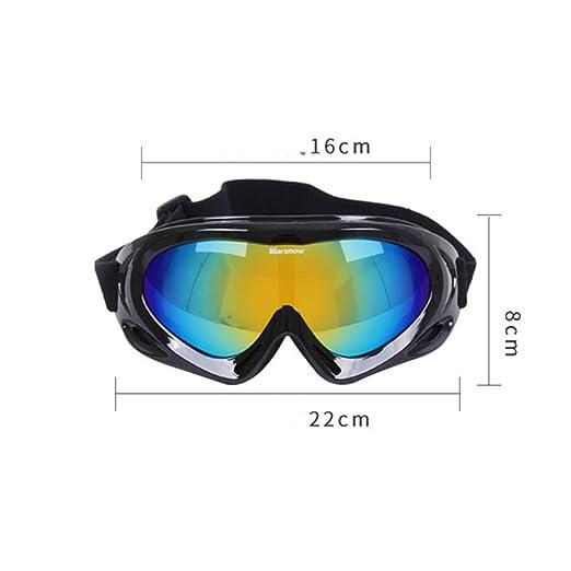 Adulte Snow Lunettes de ski coloré objectif Motocross anti-buée Mode protection des yeux Lunettes de sport, Homme, rose