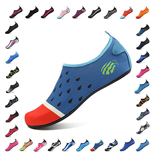Socks Men Dry Lightweight Aqua Kids CIOR Women For and Beach Water Shoes Pool Quick Yoga Surf Exercise Blue004 vH8dHW