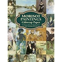 "Morisot Paintings Giftwrap Paper: Two Sheets 18"" x 24"" (46 cm. x 61 cm.) with 3 Matching Gift Cards"