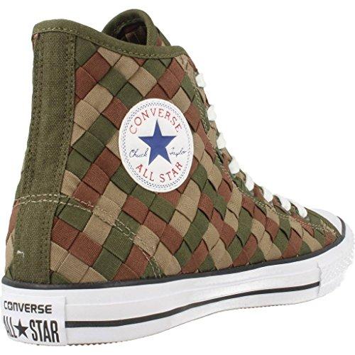 Calzado deportivo para hombre, color Verde , marca CONVERSE, modelo Calzado Deportivo Para Hombre CONVERSE CHUCK TAYLOR ALL STAR HI Verde Verde