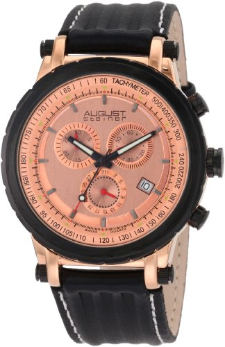 August Steiner Men's ASA814RG Swiss Quartz Sport Chronograph Date Watch