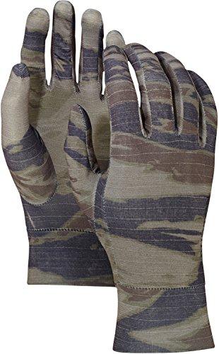 Burton Touchscreen Liner Gloves, Olive Green Worn Tiger, (Burton Glove Liner)
