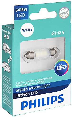 Philips 6418 Ultinon LED Bulb (White), 1 Pack ()