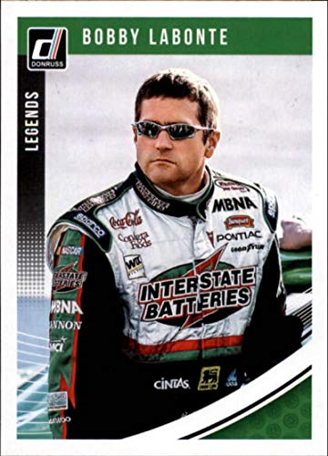 2019 Donruss Racing #164 Bobby Labonte Interstate Batteries/Joe Gibbs Racing/Pontiac Legends Official NASCAR Trading Card