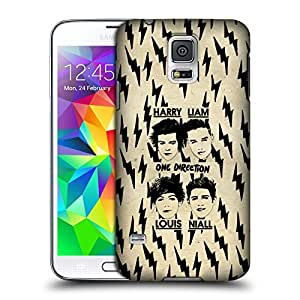Official One Direction 1D With Names Doodle Grunge Hard Back Case Cover for Samsung Galaxy S5