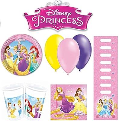 Disney PRINCESA kit de cumpleaños 8 personas: Amazon.es ...