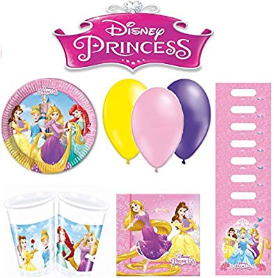 Disney PRINCESA kit de cumpleaños 8 personas: Amazon.es ...