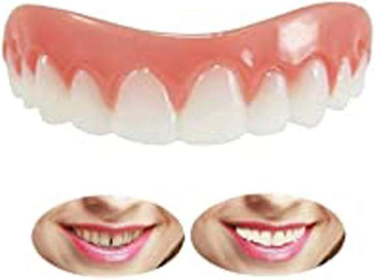 LYXG Dientes Artificiales Mandíbula Superior Dientes de Sonrisa Instantánea Dentaduras Temporales Top Smile Carillas, Prótesis Dental Rápida Carilla de Dentadura Temporal para una Sonrisa