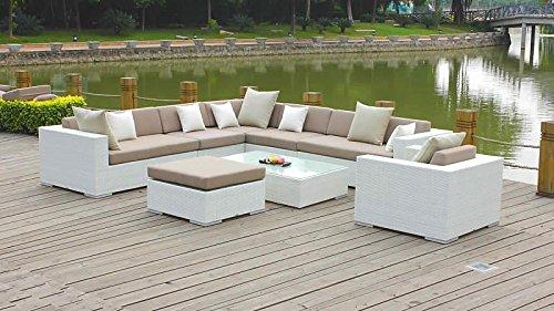 talfa Polyrattan Gartenmöbel Set Big Ben - weiß günstig online kaufen