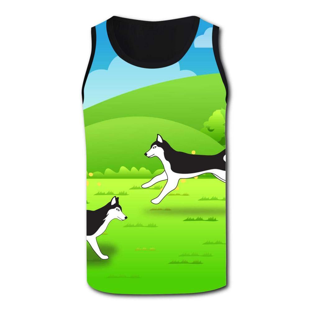 Gjghsj2 Husky Pet Mens Tank Top Vest Shirts Singlet Tank Tops Sleeveless Underwaist for Running