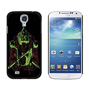 New style Coat of Arms Crossed Maces Crown Banners Pattern Snap-On Hard Protective Case for Samsung Galaxy S4 - Non-Retail Packaging - Black