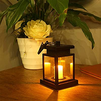 GAOJR Farolillos de jardín con luz Solar, Efecto Parpadeante LED para Exteriores, luz Nocturna de Seguridad con Clip, de Fesitive Lights, plástico, Color 0.00W: Amazon.es: Hogar