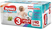 Huggies All Around Pañal Desechable para Bebé, Etapa 3 Unisex, Paquete con 40 piezas, Ideal para bebés de 7 a