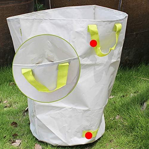 庭のゴミ袋、庭のゴミの草植物の花の収納のきちんとしたバケツの白(H70 cm、D50 cm)