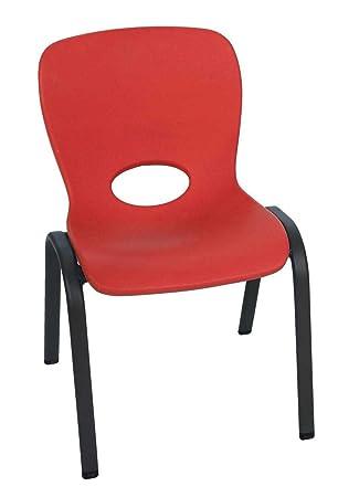 Lifetime - Silla Infantil Apilable, Rojo, LFT Kid Chair: Amazon.es: Jardín