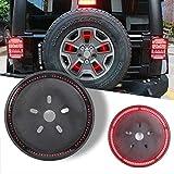 """Athiry 14"""" Spare tire light LED Third Brake Light wheel light fit for Jeep Wrangler 97-18 JK LJ YJ CJ, (Red Light)"""