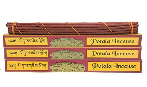 (DharmaObjects 3 Box Original Potala Tibetan Traditional Incense (Large 60 Sticks))