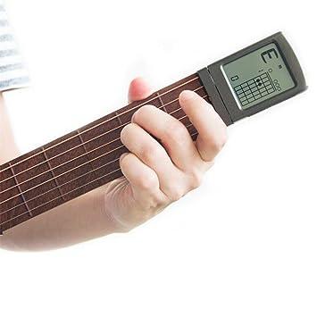 Entrenador de Guitarra,Herramienta de práctica portátil de bolsillo Ultimate Digital Handy Guitar Trainer Portátil Guitar Práctica Acorde Trainer ...