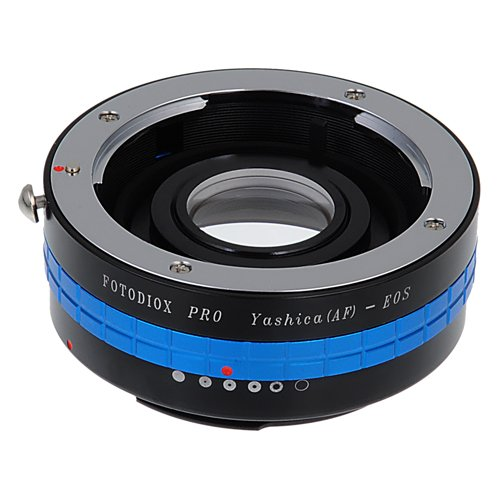 Fotodiox Pro Lens Mount Adapter - Yashica 230 AF SLR Lens to Canon EOS (EF, EF-S) Mount SLR Camera Body with Built-In Aperture Control Dial ()
