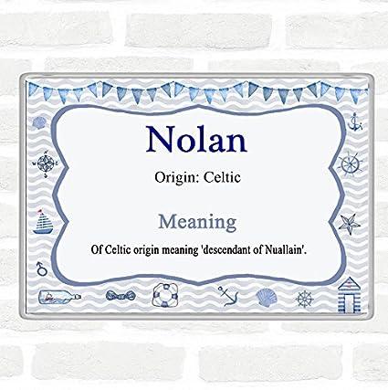 Imán para nevera con nombre de Nolan y significado Jumbo Náutico ...