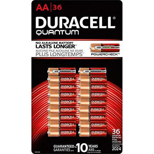 Duracell Quantum QU1500BKD09 Alkaline-Manganese Dioxide AA Battery, 1.5V, -4 to 130 Degrees F (36, Battery Type – AA) For Sale
