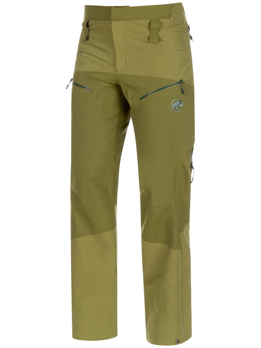 TALLA 50. Mammut ALYESKA Armor HS - Pantalón, Hombre, Verde(Clover)