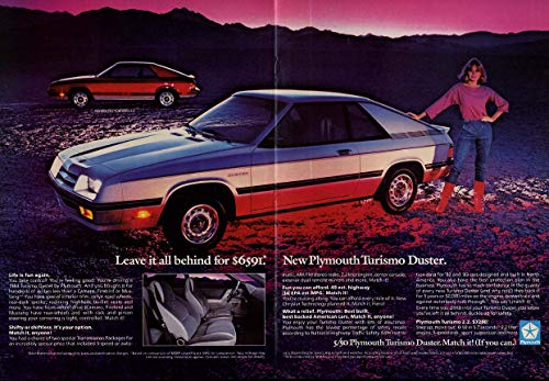 Plymouth Turismo - Leave it all behind for $6591 Plymouth Turismo Duster ad 1984
