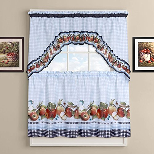 Sweet Home Collection Kitchen Curtain Set, 24