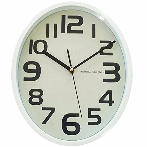 Simple modern fashionable clocks living room quiet oval wall clock 30 25 4.6CM