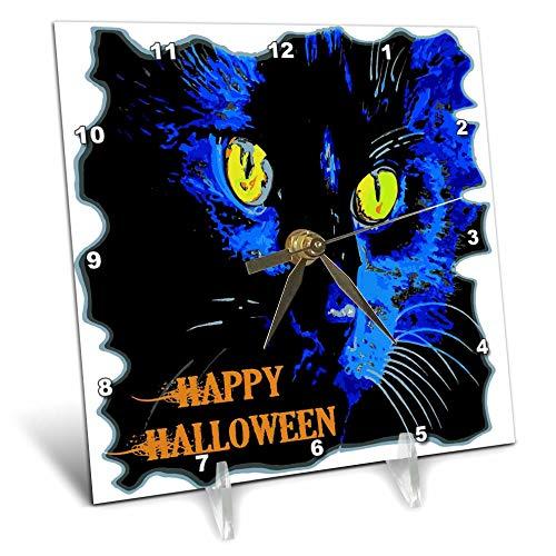 3dRose Taiche - Vector - Halloween Black Cat