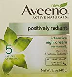 Aveeno Positively Radiant Intensive Night Cream AVEENO Active Naturals Positively Radiant Intensive Night Cream 1.70 oz (Pack of 2)