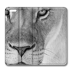 iPhone 6 Case, iPhone 6 Leather Case, Fashion Protective PU Leather Slim Flip Case [Stand Feature] Cover for New Apple iPhone 6(4.7 inch) - Mother Lion