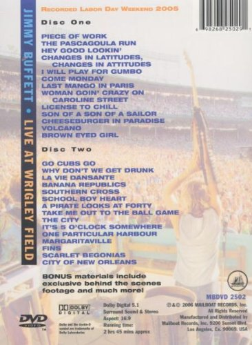 Jimmy Buffett - Live at Wrigley Field Double Header by Bayside ENT Dist
