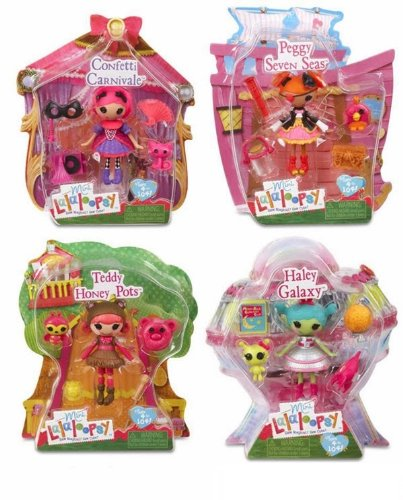 Mini Lalaloopsy Bundle Set: Honey Pots, Haley Galaxy, Peggy Seven Seas, & (Sea Arm Vii Set)