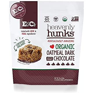 E&C's Snacks Heavenly Hunks - Certified Organic Gluten-Free Oatmeal Dark Chocolate Cookies (22 oz)