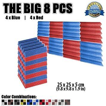 Super Dash - Placas de insonorización acústica (8 unidades) de 50 x 50 x 5 cm de espuma ...