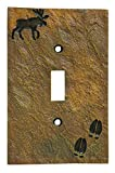 Big Sky Carvers 30170442 Moose and Tracks Single Switch Plate