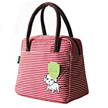 Lunch Bag Tote Bag Lunch Organizer Lunch Holder Lunch Container Reusable Lunch Bags Box for Kids and Adults Red