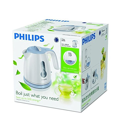 Philips Daily Collection Mini HD4608 0.8-Litre with Concealed Element Kettle (White)