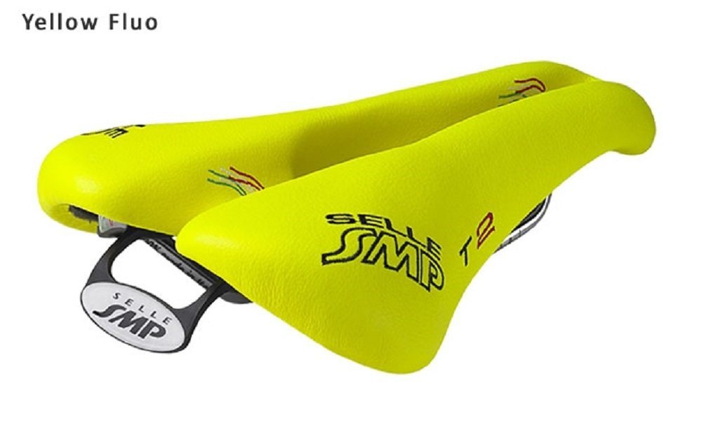 NEW Selle SMP TRIATHLON Bicycle Saddle Seat - T2 Yellow Fluo. . . Made in Italy