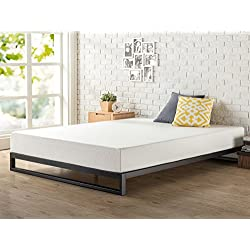 Zinus 7 Inch Heavy Duty Low Profile Platforma Bed Frame, Mattress Foundation, Boxspring Optional, Wood Slat Support, Full