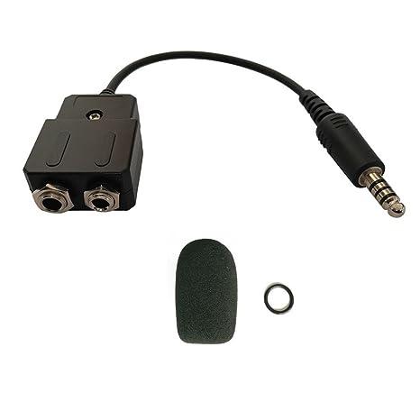 0a1026f9a64 General Aviation to Helicopter Headset adapter adapt your GA headset to a  helicopter with U174U plug
