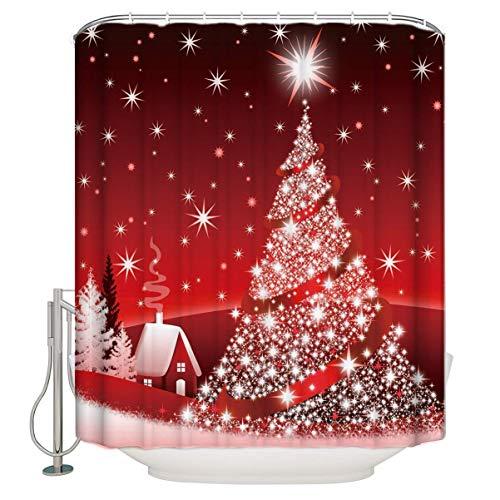 CHARMHOME Custom Home Decor Christmas Decoration Background Fabric Modern Shower Curtain European Style Bathroom Waterproof
