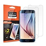 Galaxy S6 Screen Protector, Spigen® [Tempered Glass] [2 Pack] Galaxy s6 Glass Screen Protector [Easy-Install Wing] Rounded Edge [Lifetime Warranty]