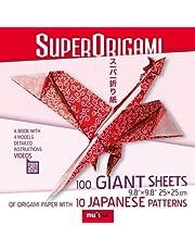 Superorigami 100 giant sheets. Ediz. a colori. Con espansione online. Con Materiale a stampa miscellaneo