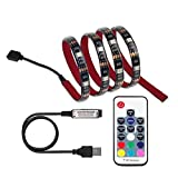LED TV Backlight , Excellux USB RGB Bias Lighting with RF Remote Controller for HDTV, Flat Screen TV Accessories and Desktop PC