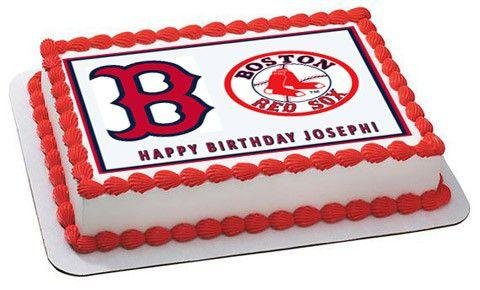 Amazon Boston Red Sox Edible Cake Topper