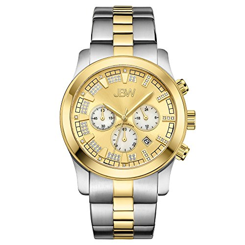 0.21 Ct Color - JBW Luxury Men's Delano .21 Carat Diamond Wrist Watch with Stainless Steel Bracelet